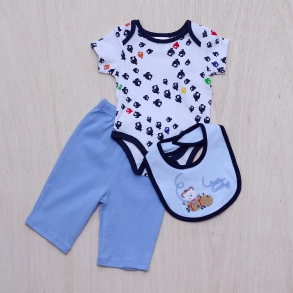 Pemborong Pakaian Bayi Dan Kanak Kanak Blue Elelphant Romper Pemborong Pakaian Bayi Dan Kanak Kanak Blue Elelphant